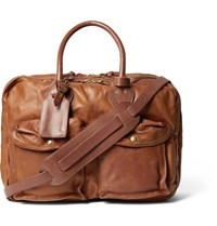 Rrl Cargo Leather Holdall Tan