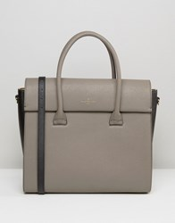 Paul's Boutique Pauls Adele Fold Over Structured Tote Taupe Beige