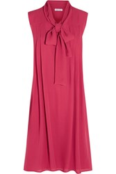 Tomas Maier Silk Georgette Dress Bright Pink