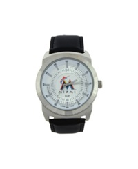 Game Time Miami Marlins Vintage Watch Black Silver