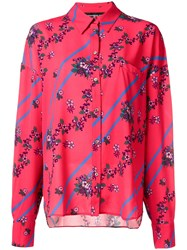 Department 5 Floral Stripe Shirt Red