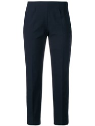 Piazza Sempione Slit Hem Trousers Blue