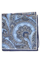 Nordstrom Men's Men's Shop Paisley Silk Pocket Square Blue
