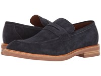 Gordon Rush Carter Navy Suede Men's Slip On Shoes Blue
