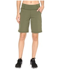 Lucy Do Everything Bermuda Rich Olive Women's Shorts Metallic