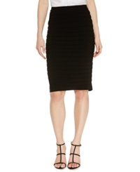 R And M Richards Shutter Pleat Pencil Skirt Black