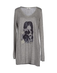 Lucky Lu Sweaters Grey
