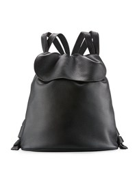 The Row Knapsack Tumbled Leather Flap Top Bag Medium Beige Black