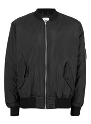 Hype Black Quilted Interior Bomber Jacket