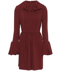 Valentino Crepe Dress Red