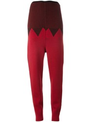 Jean Paul Gaultier Vintage Knitted Trousers Red