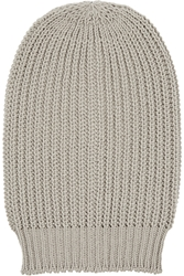 Rick Owens Oversized Ribbed Wool Beanie