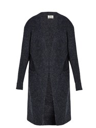 Acne Studios Raya Oversized Long Cardigan Blue