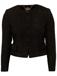 Ted Baker Qutee Boucle Bow Jacket Black