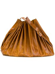 Ma Large Bucket Shoulder Bag Brown