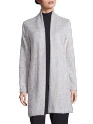 Eileen Fisher Organic Cotton Wool And Alpaca Coat Pearl