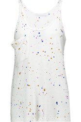 Kain Label Jane Paint Splattered Stretch Cotton Tank White
