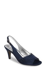 David Tate 'S Stunning Slingback Pump Navy Satin