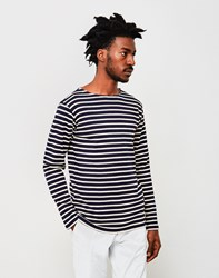 Armor Lux Classic Long Sleeve T Shirt Navy And Off White