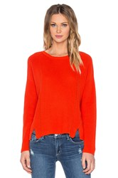 525 America Crew Neck Crop Sweater Red