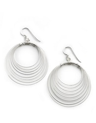 Lord And Taylor Sterling Silver Orbital Wire Earrings