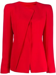 Giorgio Armani Classic Fitted Jacket Red