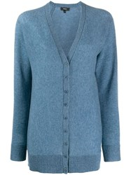 Theory Knitted Cardigan Blue