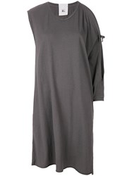 Lost And Found Rooms Asymmetric Shift Dress Grey