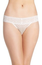 Free People Women's Lace Trim Thong Ivory