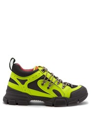 Gucci Journey Panelled Low Top Trainers Black Yellow