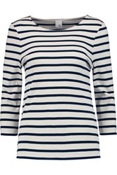 Iris And Ink Madeline Breton Striped Cotton Top Off White