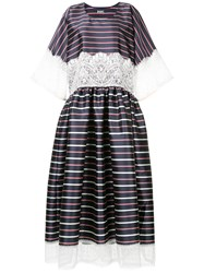 Alexis Mabille Striped Lace Dress Blue