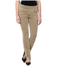Jag Jeans Petite Peri Pull On Straight Wale Corduroy Nutty Women's Casual Pants Brown