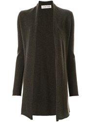Lamberto Losani Long Sleeve Fitted Cardigan Grey