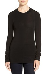 Trouve Women's Sheer Layering Tee Black