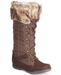 Zigi Soho Madalyn Lace Up Cold Weather Boots Women's Shoes Brown
