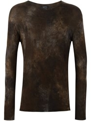 Avant Toi Tie Dye Jumper Brown