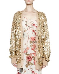 Saint Laurent Embellished Button Front Cardigan Gold Men's Size 38