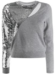 Rta Sequin Embellished Jumper Grey