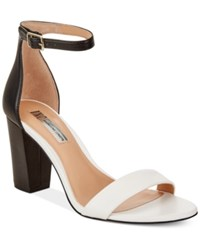 Inc International Concepts Kivah Block Heel Dress Sandals Only At Macy's Women's Shoes White Black