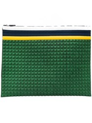No Ka' Oi Chocolate Bar Quilted Purse Green