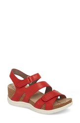 Bionica Passion Wedge Sandal Fire Red Leather