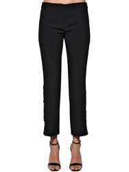 N 21 Side Snap Button Twill Pants Black