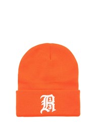 R 13 Embroidered Knit Beanie Hat Orange