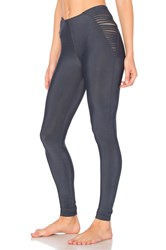 Blue Life Fit Strappy High Waist Legging Navy