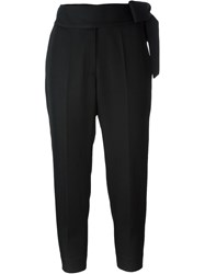 Iro Bow Detail Cropped Trousers Black