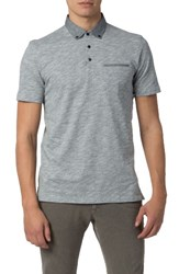Good Man Brand Men's Heathered Stripe Polo Charcoal
