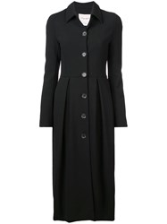 Carolina Herrera Buttoned Up Frock Coat Black