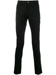 Balmain Logo Patch Skinny Trousers Black