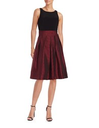Nipon Boutique Two Tone Sleeveless Fit And Flare Dress Fire Red